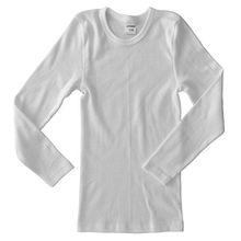 HERMKO 62830 Kinder Funktionswäsche langarm Shirt HERMKO Unterwäsche, atmungsaktiv und schnelltrocknend, ideal für Sport und Freizeit, Farbe:weiß;Größe:164