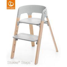 STOKKE® Steps Stuhl mit grauem Sitz