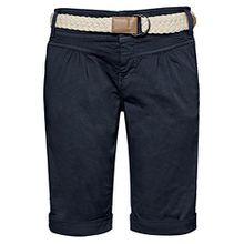 Fresh Made Damen Bermuda-Shorts im Chino Style mit Flecht-Gürtel | Elegante kurze Hose in Pastellfarben dark-blue S