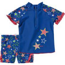 PLAYSHOES 2-teiliger Kinder Schwimmanzug mit UV Schutz blau