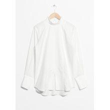 Front Slit Shirt - White