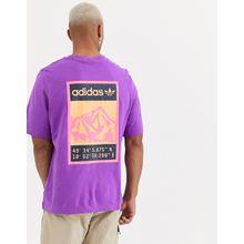 adidas Originals - Adiplore - Violettes T-Shirt mit Rücken-Print - Violett