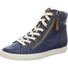 Paul Green Damen Sneaker 0062-1230-432/Knöchelhoher Sch 1230-432 Jeans/Sahara Easy Cal Blau 377856