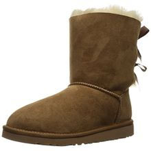 UGG Bailey Bow Unisex Kinder Schlupfstiefel, Braun (Chestnut), 32 EU (1 UK)