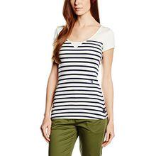 G-Star Damen, T-Shirt, US r t Wmn s, Weiß (Milk/Sapphire Blue Weiß 5039), XL (Herstellergröße XL)