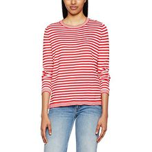 Hilfiger Denim Damen Pullover Thdw Basic Strp CN Sweater L/S 13, Rot (Lipstick Red/Snow White 903), X-Small