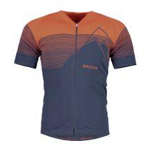 Maloja - EliM. Shortsleeve Herren Bike Trikot (rot/dunkelblau) - L/XL