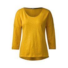 Cecil Damen Sportliches 3/4-Arm Shirt Golden Lemonade XXL