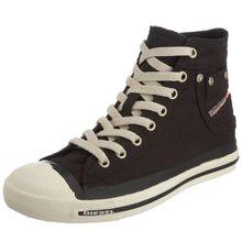 Diesel MAGNETE EXPOSURE W - sneaker, Damen Hohe Sneakers - Schwarz (H0144), 40 EU (6.5 Damen UK)