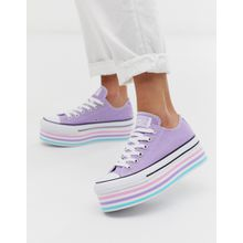Converse - Chuck Taylor All Star - Sneaker in Flieder mit hoher Plateausohle - Violett
