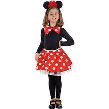 Minnie-Mouse-Set (Rock, Fliege), 2-tlg. Mädchen Kinder