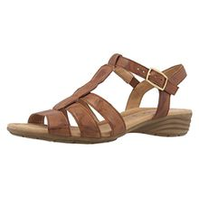 Gabor Damen Sandaletten - Braun Schuhe in Übergrößen, Größe:42