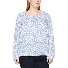 SAMOON Damen Bluse 1/1 Arm, Mehrfarbig (Periwinkle Druck 8001), 46