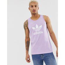 Adidas Originals - Trägerhemd mit Kleeblatt-Logo in Violett - Violett
