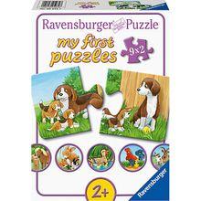 my first puzzles  - Tierfamilien auf dem Bauernhof, 9 x 2 Teile