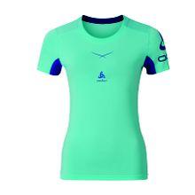 Odlo - Ceramicool Print Crew Neck Shortsleeve Damen Laufshirt (hellblau) - XL