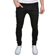 Soulstar Herren-/Jungen-Jeans, Designer-Marke, Skinny Fit, Stretch Gr. 32W x 34L, Schwarz