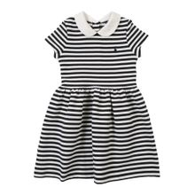 POLO RALPH LAUREN Kleid 'STRUCTURED KNIT-STRIPE DRESS-DR-KNT' navy