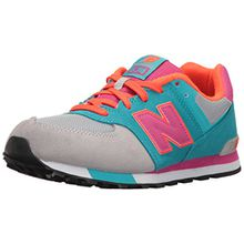 New Balance Unisex-Kinder 574 Cut and Paste Sneakers, Mehrfarbig (Grey/Turquoise), 37 EU
