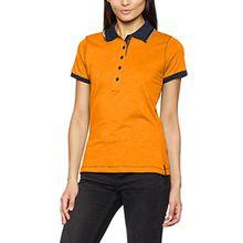 James & Nicholson Damen Poloshirt Ladies´Urban Polo, Orange (Orange-Navy), 38 (Herstellergröße: L)