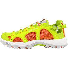Salomon Damen Techamphibian 3 W Trail Runnins Sneakers, Grün (Lime Punch./Living Coral/White), 39 1/3 EU
