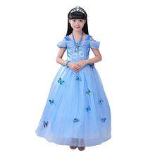 YYF Mädchen Aschenputtel Prinzessin Kostüm Schmetterling Kleid Prinzessin Kleider