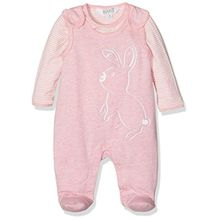 Kanz Unisex Baby Strampler + T-Shirt 1/1 Arm, Rosa (Parfait Pink Melange 8195), 56