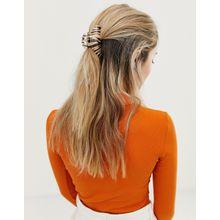 Glamorous - Haarklammer mit Zebramuster - Mehrfarbig
