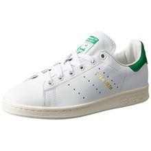 adidas Unisex-Erwachsene Stan Smith Sneakers, Weiß (Footwear White/Footwear White/Green), 42 2/3 EU