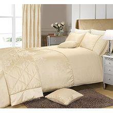 Scroll Creme Bettwäsche Bettbezüge+ 1 Kissenbezüge Creme Bettwäsche 140x200 Einzelbett