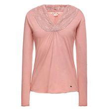 khujo Shirt THYME Langarmshirts rosa Damen