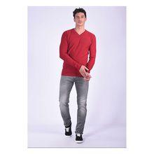 Kaporal Pullover Binko Neorem mit trendigem V-Ausschnitt Pullover rot Herren