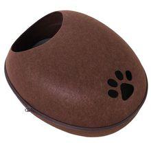 PawHut Katzenhöhle mit Wärmefunktion braun