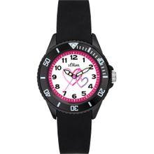 S.Oliver Uhr 'SO-3633-PQ' pink / schwarz / weiß