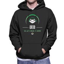 Lucio Break It Down Overwatch Men's Hooded Sweatshirt