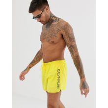 Calvin Klein - Runner - Gelbe Badeshorts mit Logo - Gelb