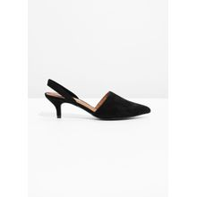 Kitten Heel Pumps - Black