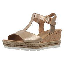Gabor Comfort - Damen Keil-Sandaletten - Gold Schuhe in Übergrößen, Größe:42.5