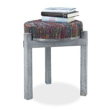 "Hocker ""Pouf Retro"" dunkelgrau"