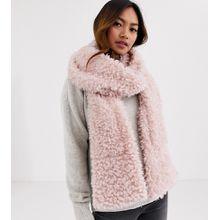 My Accessories London – Exklusiver Schal aus Kunstpelz mit Taschen in Rosa