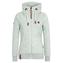 Naketano Female Zipped Jacket Redefreiheit? Milky Green Melange, S