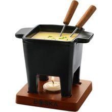 """5-tlg. Fondue Set """"Tapas"""" mit Teelicht schwarz"""