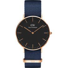 Daniel Wellington Uhr 'Classic 36 Bayswater' navy / rosegold / schwarz