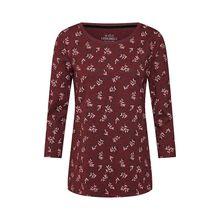 EDC BY ESPRIT Shirt Langarmshirts bordeaux Damen