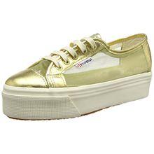 Superga 2790 Netw, Unisex Erwachsene Platform Sneakers, Gold, 37 EU