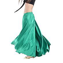 YouPue Damen Tanzkostüm Bauchtanz-Kostüm sexy High-End-Dual Rock Bauchtanz Leistungen große Rock Komfort (nicht enthalten Gürtel) Gürtel Kostüme Bauchtanz Taille Kette Dunkelgrün