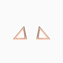 Ohrstecker TRIANGLE rose gold