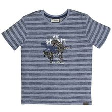 SALT AND PEPPER Jungen T-Shirt Gigantic Stripe, Blau (Cloud Blue 435), 104 (Herstellergröße: 104/110)
