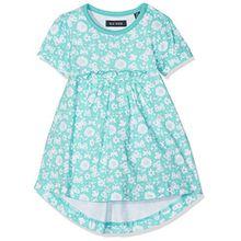 Blue Seven Baby-Mädchen Kleider Mini Md Shirtkleid, Blau (Cyan Orig 650), 62 (62)
