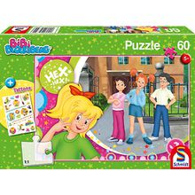 Puzzle, 60 Teile, 36x24 cm, mit Tattoo-Sticker, BiBi Blocksberg Beste Freunde
